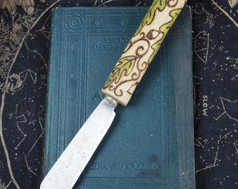 Oak Wood Athame with Upcycled Blade - Ritual Knife, Pagan, Wicca, Witchcraft, Magic