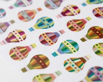 32 Heissluft-Ballon-Aufkleber, Sticker, Scrapbook-Aufkleber, Erinnerung Aufkleber, Ballon-Label, Eclp Filofax glücklich planner