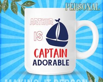 YOUR NAME Is Captin Adorable Personalised Mug Gift Idea