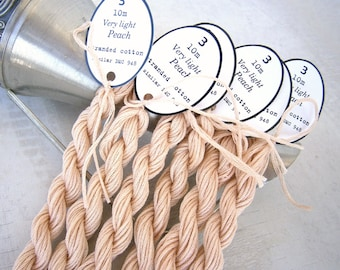 Embroidery Floss, Counted Cross Stitch, Hand Embroidery Thread 24 skeins Very Light Peach