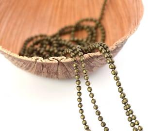 Ball chain 1.5 mm antique bronze