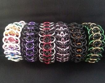 Stretchy Chainmail Bracelet  - Interwoven 4in1 - Waterproof - Stretch Bracelet
