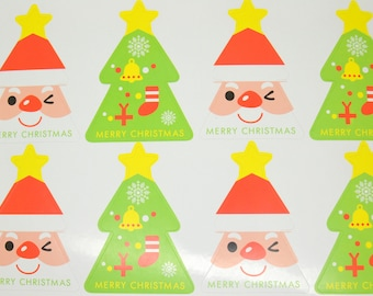 chalkboard labels 8 sticker gift Christmas holiday