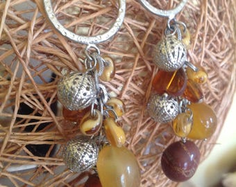 Long dangly earrings, retro earrings, vintage earrings, very long earrings, long bauble earrings, for pierced earrings, long bead earrings.