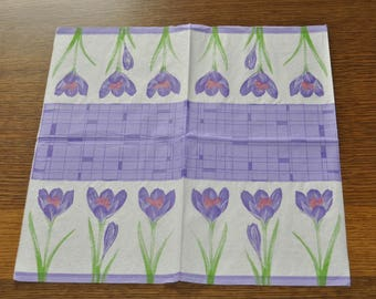 Crocuses towel