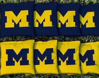Michigan Wolverines Cornhole Bag Set