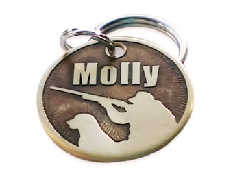 Dog Tag - Bird Hunter in Brass