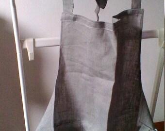 Grey linen apron