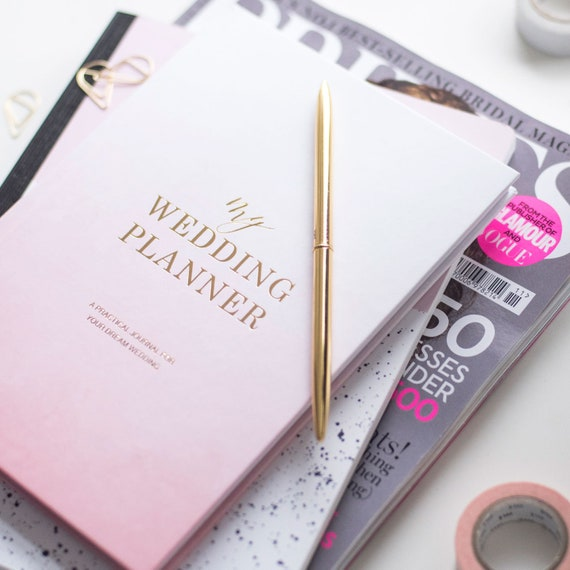 Gift For Wedding Planner: Luxury Watercolour Wedding Planner Book Engagement Gift For