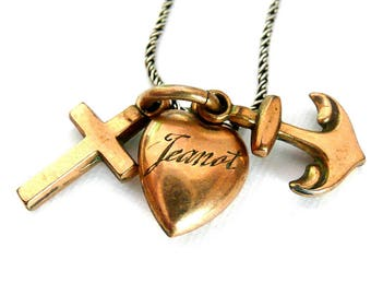 Faith, Hope, and Charity Necklace