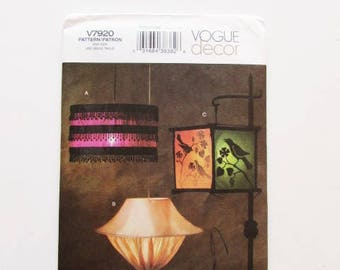 Fabric Lamp Shade, Lamp Cover, Lantern, Hanging Light,  Vogue Decor, V7920-  Uncut