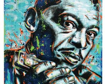 Little Walter - Blues Harmonica Legend - 12 x 18 High Quality Pop Art Print