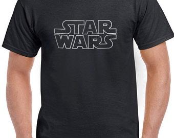 Star Wars Inspired Insignia Logo Design 2 Black White Sport Gray Tweed Grey T-Shirt T-Shirts Tops Women Men Boys Girls Ladies Unisex Fit