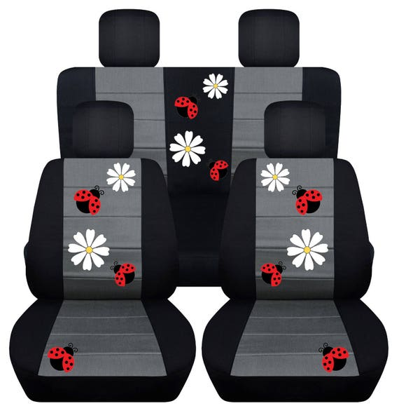 Ladybird Car Seat Covers....Any Middle Colour Insert...We Make