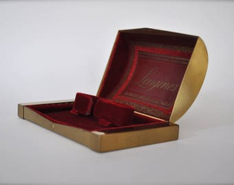 "Vintage ""Longines""  Brass Watch Box (Box Only)"