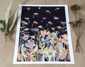 Bird Sanctuary at Night - Larger Archival Print