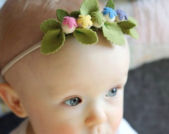 Baby blossom headband, baby, children or adult size