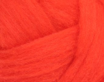 Polypay Wool Roving for Spinning or Felting -- Flame