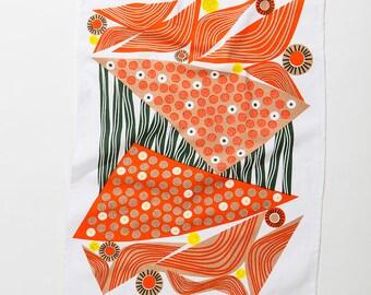 Liquorice Mid Mod Tea Towel • Abstract Allsorts Series