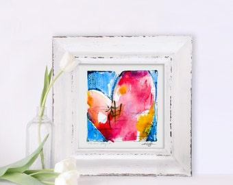 Painted Prayer, Heart, Abstract Love art prayer, INSTANT DOWNLOAD  Printable Abstract Spiritual, Art Printables Kathy Morton Stanion