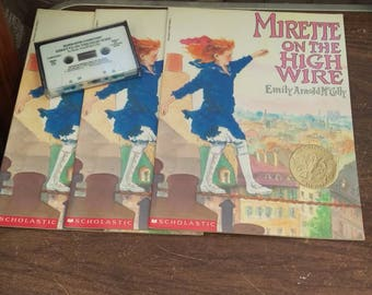 Mirette on the high wire cassette and 3 books