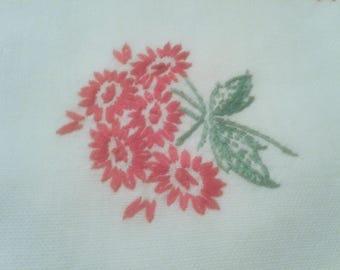Vintage Hand embroidered table runner dresser scarf