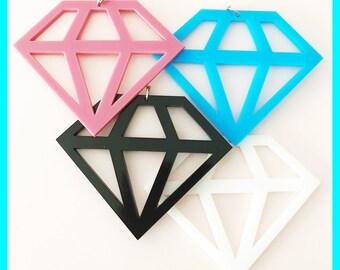 Laser-cut Form-Acryl Diamant-Halskette