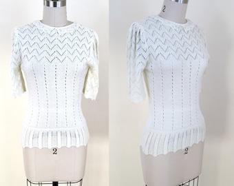 1970s Pointelle Sweater