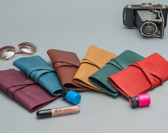 Set of leather clutches bridesmaid gift leather clutch bridesmaid clutch gift for her evening clutch leather purse leather bag clutch bag