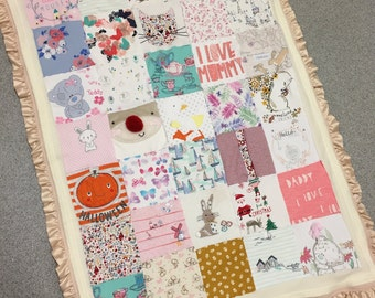 Precious Baby/Adult Clothes Memory Blanket