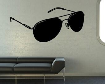 Vinyl Wall Decal Sticker Aviator Sunglasses OS_MB1106B