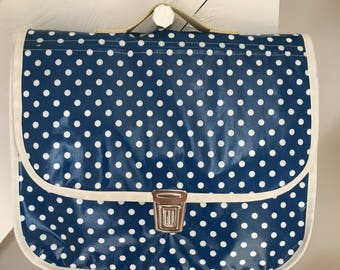 Coated fabric satchel