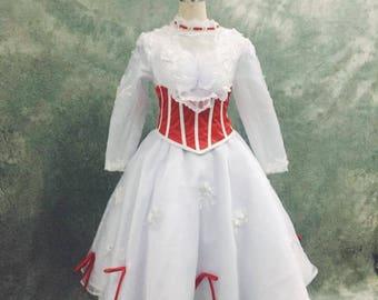 Mary Poppins Cosplay Dress