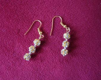 Goldtone with faux rhinestone earrings