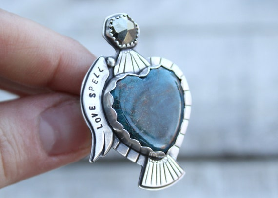 Deep Blue Kingman Turquoise Potion Bottle With Pyrite Topper Love Drunk Collection
