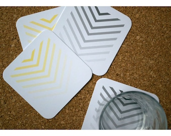 Coasters with Ombre Chevron Set of 4