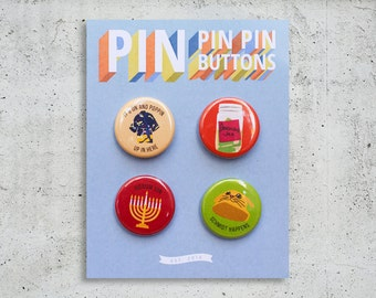 New Girl Button Set / TV Show Buttons / Pinback Buttons / Gift Set