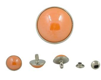 20 pcs Orange Pearl Rivets Studs Buttons Leathercraft Decorations 12 mm. PL OR12 202