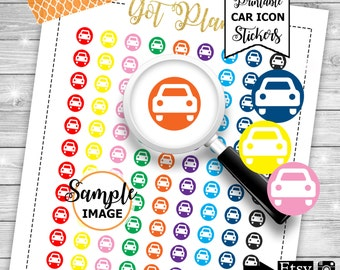 Car Icon Stickers, Printable Planner Stickers, Stickers For Planner, Functional Planner Stickers, Car Planner Stickers
