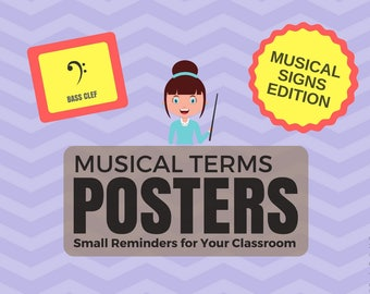 Musical Terms Posters - Musical Signs Edition