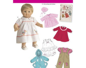 15 Inch Baby Doll Clothes Pattern Simplicity #1708