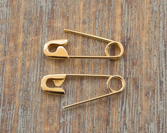 3/4'' Sterling Silver Safety Pin Earrings Jewelry Safety Pins Movement Solidarity Pin Safety Pin brooch Safety Pin Safe Place Gift