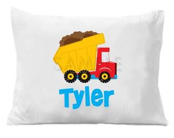 Dump Truck  Pillow Case , Personalized Dump Truck Pillowcase