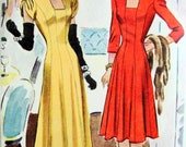 UNCUT * Vintage McCall Pattern 4548 / BEAUTIFUL Misses' Evening Length Draped Dress in 2 Lengths  / size 12 bust 30