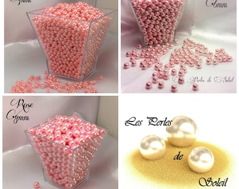 Pearls, pink 4mm, 6mm, 8mm