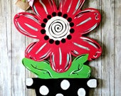 flower door hanger, paint...
