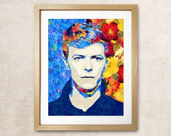 David Bowie Poster Music Poster David Bowie Print Bowie Portrait Music Print David Bowie David Bowie Art Rock Star Bowie Print Rock Music