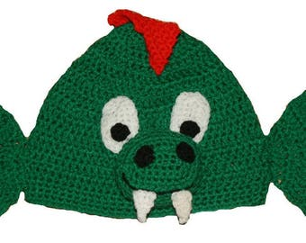 Hand Crocheted Dragon Hat HH 178