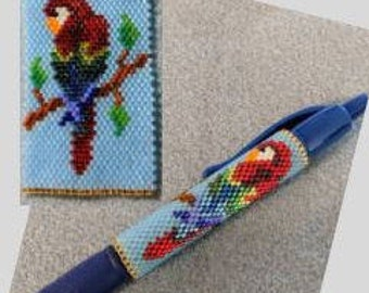 Beaded Parrot Pen Wrap