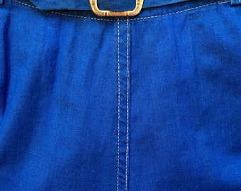 1940's royal blue shorts by Max Goodman & Son, NYC